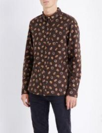 All Saints Wieppe Leaf Print Shirt at Selfridges