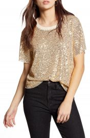 All in Favor Sequin Tee   Nordstrom at Nordstrom
