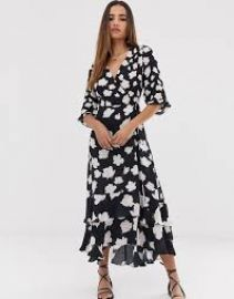AllSaints delana caro floral print wrap maxi dress   ASOS at Asos
