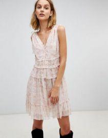 AllSaints floral ruffle mini dress at asos com at Asos