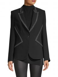 Allegria Crepe Studded Blazer at Saks Fifth Avenue