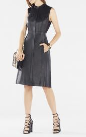 Allexandria Faux Leather Dress at Bcbg