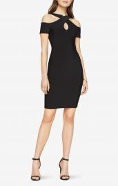 Alley Cold-Shoulder Halter Dress BCBGMAXAZRIA at Bloomingdales