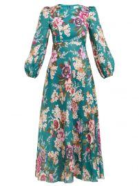 Allia floral-print linen dress at Matches