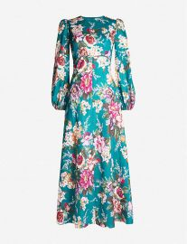 Allia floral-print linen dress at Selfridges