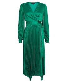 Allison Pleated Wrap Dress by Intermix at Intermix
