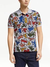 Allover Print Polo Shirt by Lacoste x Keith Haring worn by T.J. Linnard on Good Trouble at John Lewis