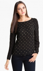 Allover studded blouse by Vince Camuto at Nordstrom