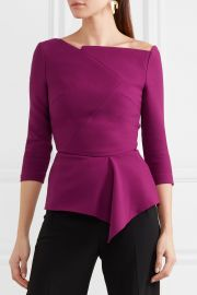 Almeley asymmetric crepe top at Net A Porter