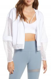 Alo Fadeaway Mesh Hooded Jacket   Nordstrom at Nordstrom