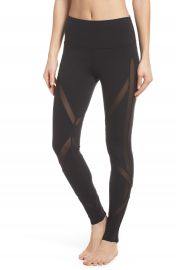Alo High Waist Mesh Inset Leggings   Nordstrom at Nordstrom