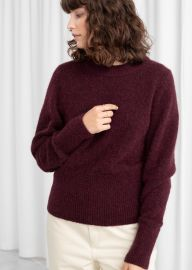 Alpaca puff sweater at & Other Stories