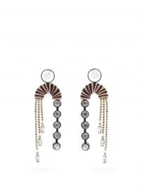 Alpha Crystal-Embellished Drop Earrings by Maryjane Claverol at Matches