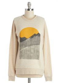 Alpine Shine Sweatshirt in Ecru at ModCloth