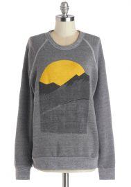Alpine Shine Sweatshirt in Stone at ModCloth