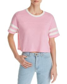 Alternative Apparel Striped-sleeve Cropped Tee at Bloomingdales