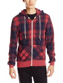 Alternative Menand39s Rocky Printed Eco-Fleece Hoodie Jacket in Plaid at Amazon