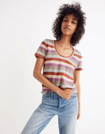 Alto Scoop Tee in Granda Stripe at Madewell