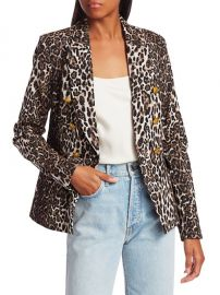 Alton Leopard Print Double-Breasted Blazer at Saks Fifth Avenue