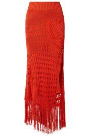 Altuzarra - Benedetta fringed open-knit cotton-blend maxi skirt at Net A Porter