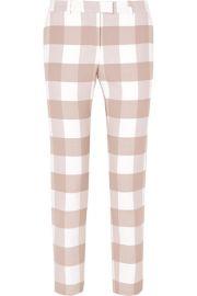 Altuzarra - Cropped gingham wool-blend twill skinny pants at Net A Porter