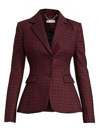 Altuzarra - Fenice Plaid Wool-Blend Blazer at Saks Fifth Avenue