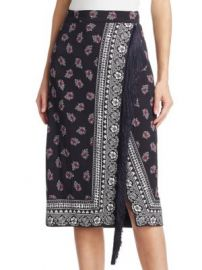 Altuzarra - Jude Bandana-Print Fringed Skirt at Saks Fifth Avenue