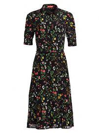 Altuzarra - Kieran Botanical Silk Shirtdress at Saks Fifth Avenue