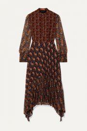 Altuzarra - Lakshmi pleated paisley-print chiffon midi dress at Net A Porter