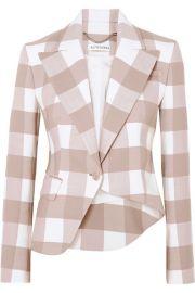 Altuzarra - Lazio asymmetric gingham wool-blend twill blazer at Net A Porter