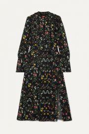 Altuzarra - League ruffled floral-print silk crepe de chine midi dress at Net A Porter