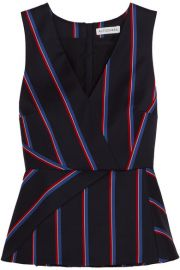 Altuzarra   Miles striped wool and cotton-blend peplum top at Net A Porter