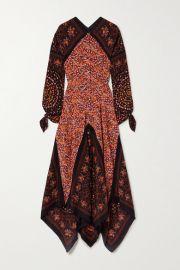 Altuzarra - Northwest paneled floral-print silk crepe de chine dress at Net A Porter
