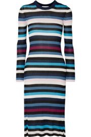 Altuzarra   Stills striped ribbed stretch-knit midi dress at Net A Porter