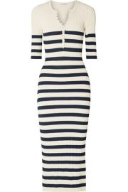 Altuzarra   Sunday striped ribbed stretch-knit midi dress at Net A Porter