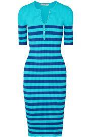 Altuzarra - Sunday striped ribbed stretch-knit midi dress at Net A Porter