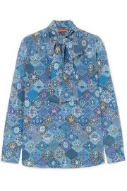Altuzarra - Visage pussy-bow printed silk blouse at Net A Porter
