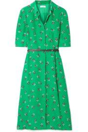 Altuzarra   Wednesday belted printed silk crepe de chine shirt dress at Net A Porter