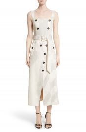 Altuzarra Audrey Button Detail Pinstripe Dress at Nordstrom