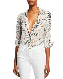 Altuzarra Chika Long-Sleeve Tiger-Print Shirt at Neiman Marcus