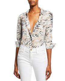 Altuzarra Chika Long-Sleeve Tiger-Print Shirt at Neiman Marcus