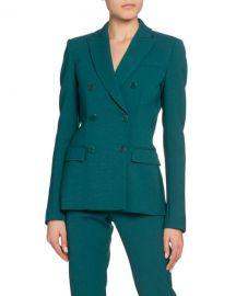 Altuzarra Double-Breasted Stretch Wool Blazer at Neiman Marcus