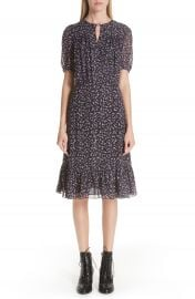 Altuzarra Floral Print Ruffle Hem Dress at Nordstrom