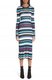Altuzarra Stills Stripe Rib Knit Dress at Nordstrom