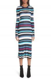 Altuzarra Stills Stripe Rib Knit Dress at Nordstrom