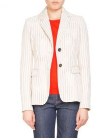 Altuzarra Two-Button Pinstripe Fenice Fitted Blazer   Neiman Marcus at Neiman Marcus