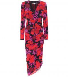 Alvaro floral stretch-silk dress at Mytheresa