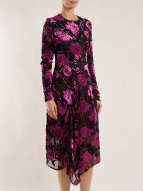Alyssa floral-devore midi dress by Preen by Thornton Bregazzi at Matches