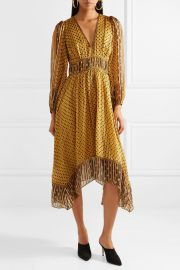 Amabelle printed silk-jacquard midi dress by Ulla Johnson at Net A Porter