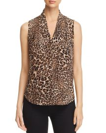 Amal Leopard Sleeveless Blouse at Bloomingdales